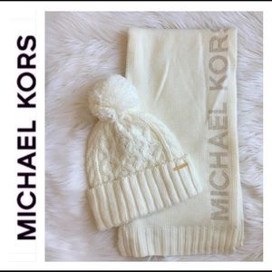 New! Michael Kors beanie and scarf
